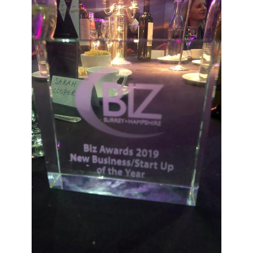My 1st Photos win New Business/ Start-Up of Year at the Biz Awards 2019