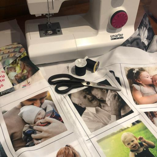 Print any photos on to Fabric!